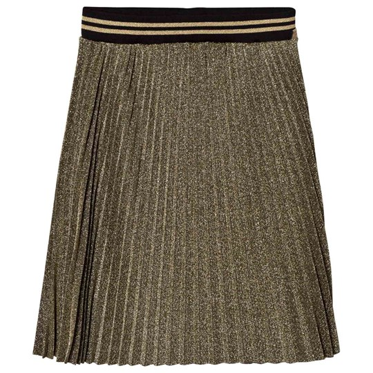 Little Marc Jacobs Gold Lurex Pleated Skirt Z98