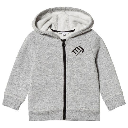 Little Marc Jacobs Grey Hoodie with Black Print MJ Logo A35