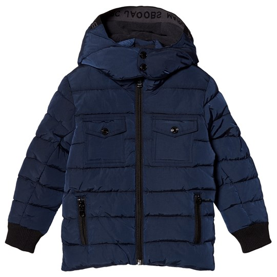 Little Marc Jacobs Navy Puffer Coat with Elastic Hood 85V