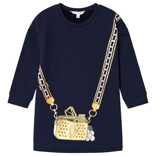 The Marc Jacobs Navy Sweat Dress with Bag Illustration 85V
