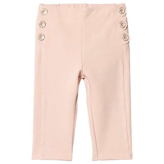 Chloé Pink Scallop and Button Detail Milano Trousers 438