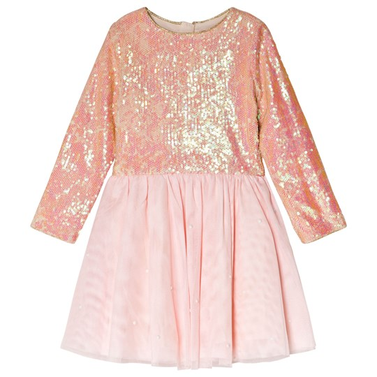 Billieblush Pink Sequin and Pearl Party Dress 44V