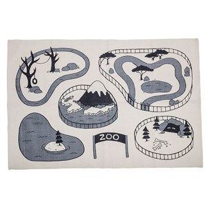 Image of Bloomingville Cotton Rug Grey One Size (1174218)