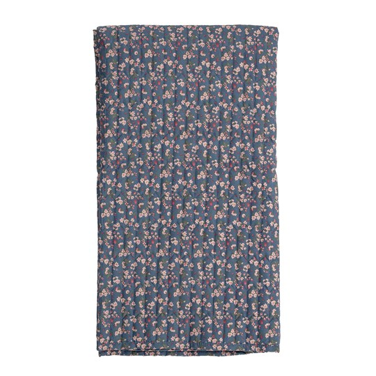 Bloomingville Quilted Throw Multicolor Blue