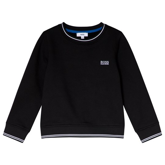 BOSS Black Embroidered Branded Sweatshirt 09B