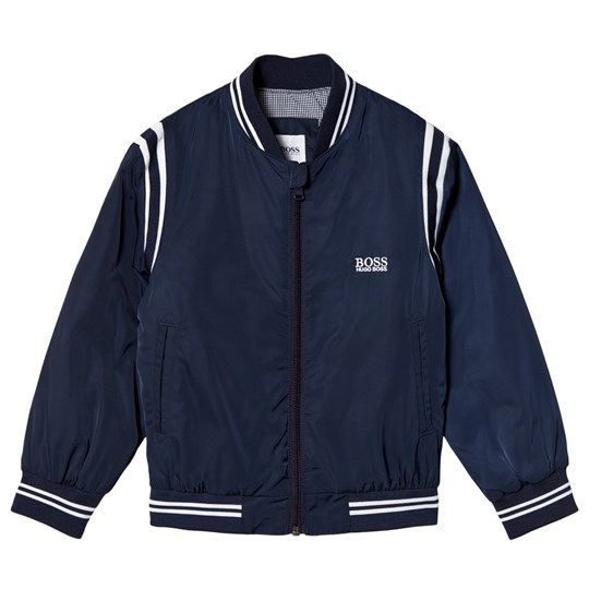 BOSS Navy Branded Bomber Jacket 849