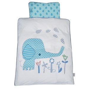 Image of Baby Dan Elefantastic Bedding Set for Carrycot/Cradle in Blue 65 x 80 / 35 x 40 (3065553617)
