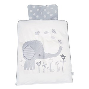 Image of Baby Dan Elefantastic Bedding Set for Carrycot/Cradle Grey 65 x 80 / 35 x 40 (3149050847)
