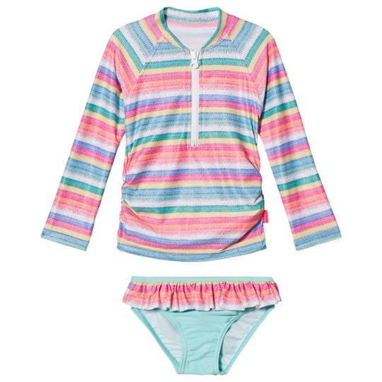 Seafolly Candy Pop Stripe Long Sleeve Rashie Set Candy Stripe