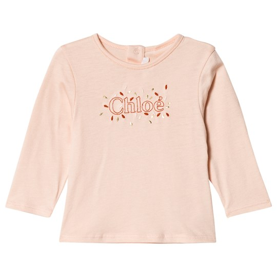 Chloé Pink Chloe Floral Embroidered Tee 438
