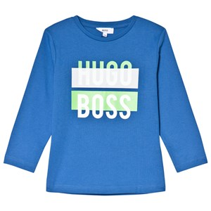 Image of BOSS Royal Blue and White Branded Long Sleeve Tee 6 years (3039028571)