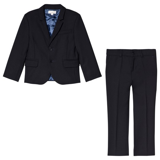 Paul Smith Junior Navy Cool Wool Suit Marinblå