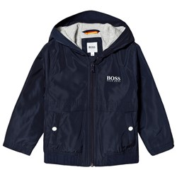 BOSS Navy Nylon Branded Windbreaker