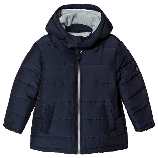 BOSS Navy Branded Puffer Jacket 849