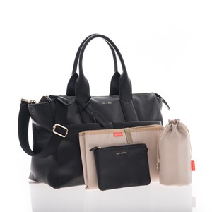 Image of Jem + Bea Black Leather Jemima Changing Bag (3039027863)