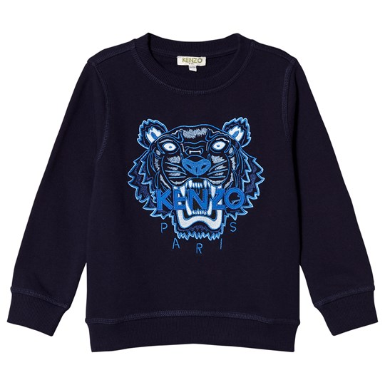 Kenzo Navy and Blue Tiger Embroidered Sweatshirt 04