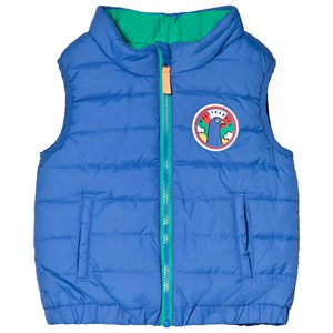 Image of Billybandit Blue and Green Reversible Puffer Gilet 10 years (3039914921)