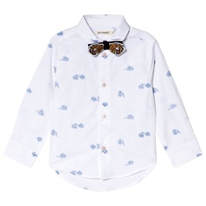 Image of Billybandit White Tiger Print Shirt and Bow Tie 10 years (3039915147)
