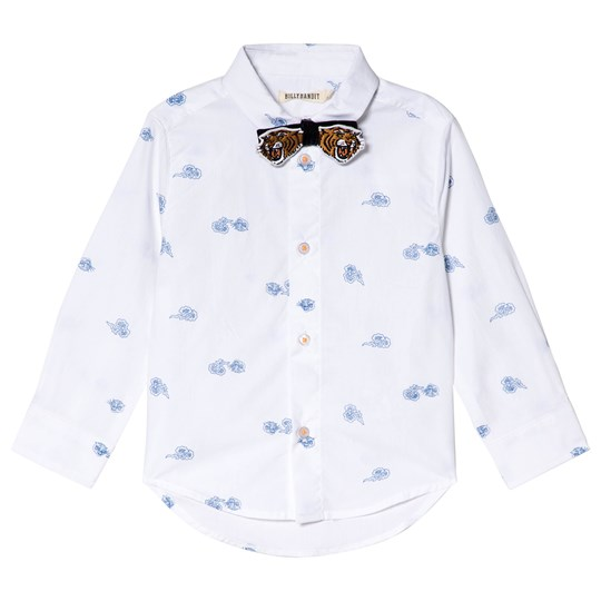 Billybandit White Tiger Print Shirt and Bow Tie 10B