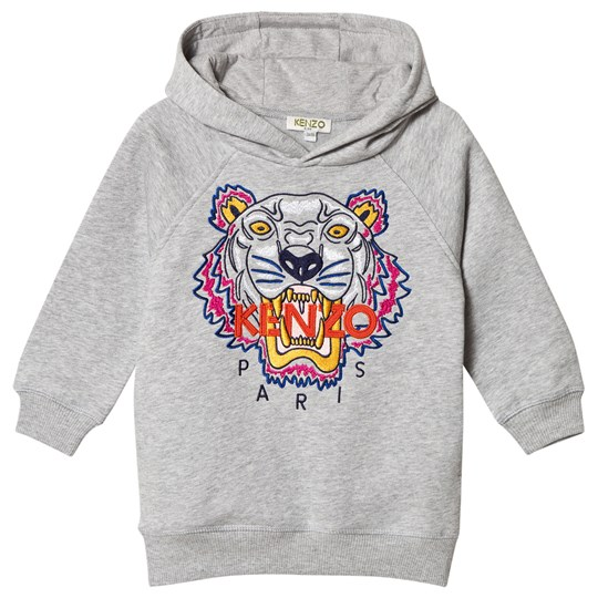 Kenzo Grey Tiger Embroidered Hoody Dress 25