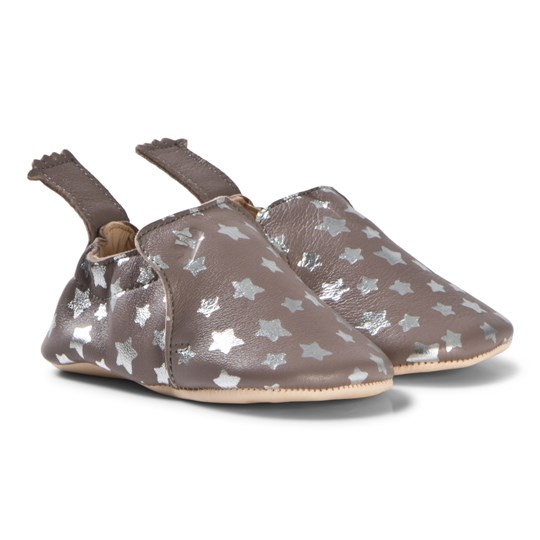 Easy Peasy Blumoo Night Crib Shoes Bark/Silver 593