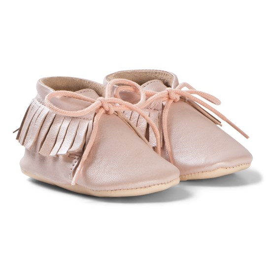 Easy Peasy Meximoo Moccasin Crib Shoes Baby Pink 075