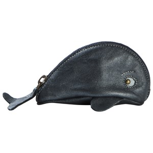 Image of Easy Peasy Baleine Whale Purse Blue Metallic (3040603827)