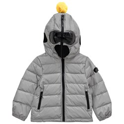 AI Riders on the Storm Silver Reflective Goggle Hood Coat