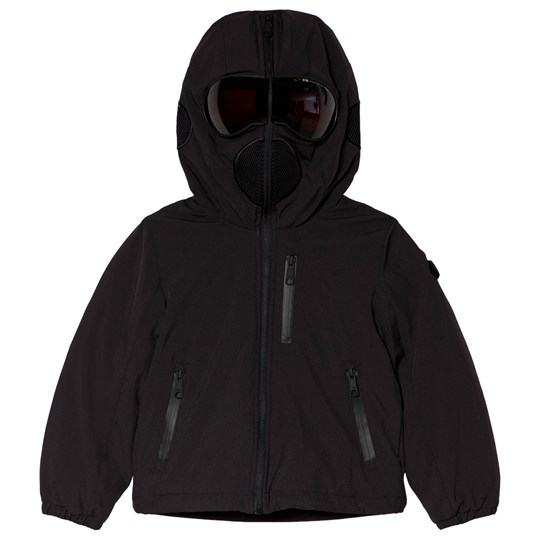 AI Riders on the Storm Black Insulated Padded Goggle Hood Coat 205