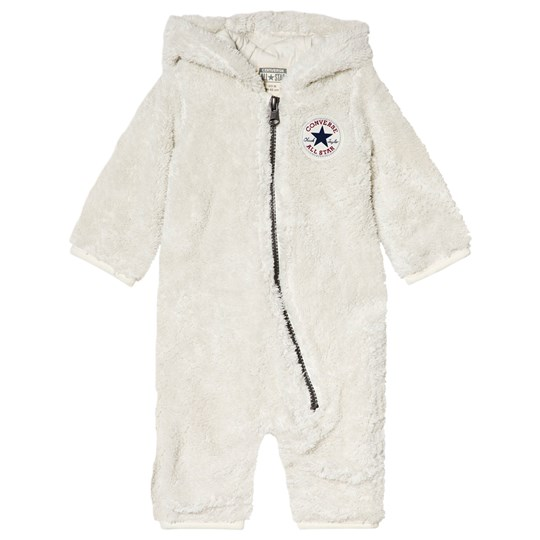 Converse Beige Sherpa Hooded One-Piece K3E Buff