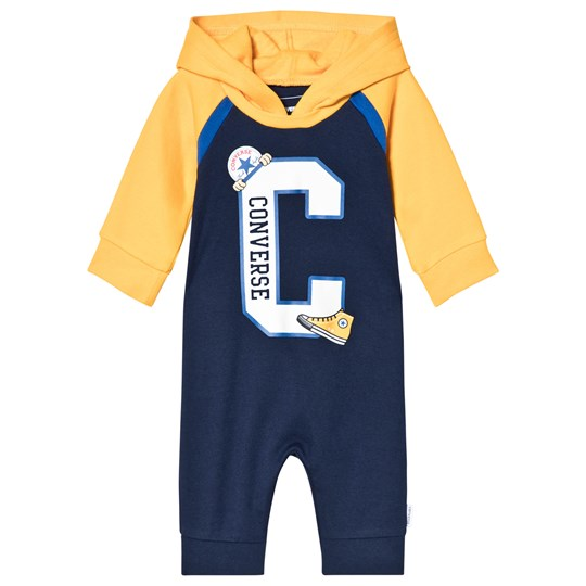 Converse Navy and Yellow Branded One-Piece U90 Midnight Navy