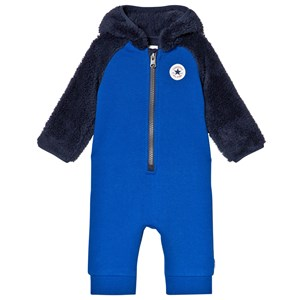 Image of Converse Blue and Navy Fleece Branded One-Piece 6-9 months (3040603695)