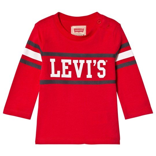 Levis Kids Red Logo Long Sleeve Tee 36