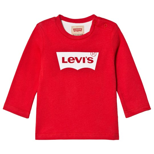 Levis Kids Red Batlog Long Sleeve Tee 36