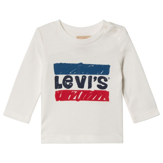Levis Kids White Hero Logo Long Sleeve Tee 10