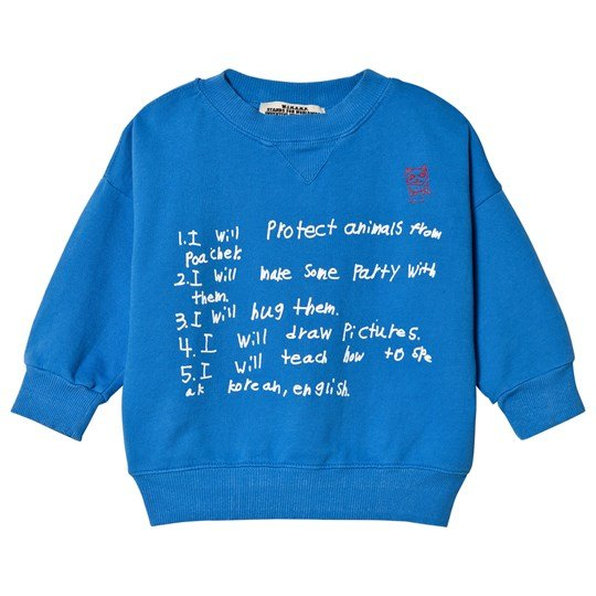 Bobo Choses W.I.M.A.M.P. Blue Sweatshirt Snorkel Blue