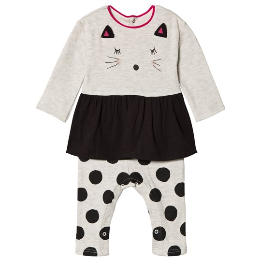 Catimini Grey Cat One-Piece 12