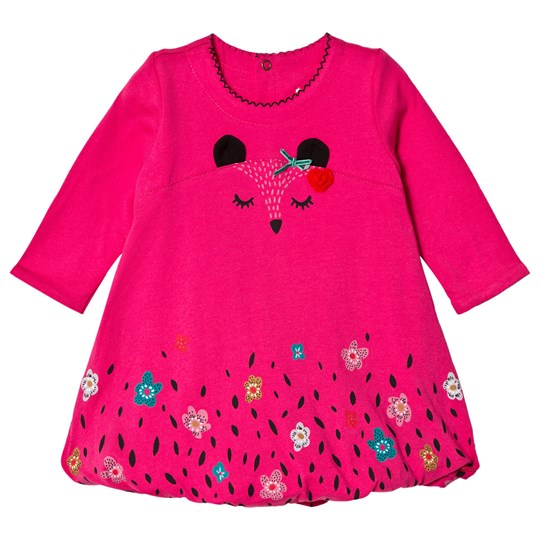 Catimini Pink Floral and Animal Print Bubble Dress 35