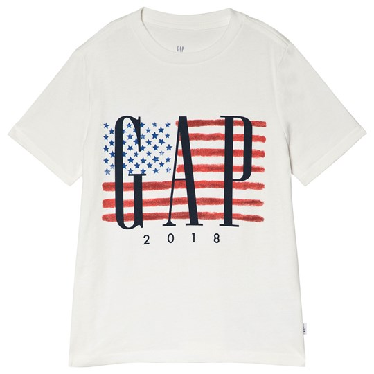 GAP New Off White Flag Tee NEW OFF WHITE