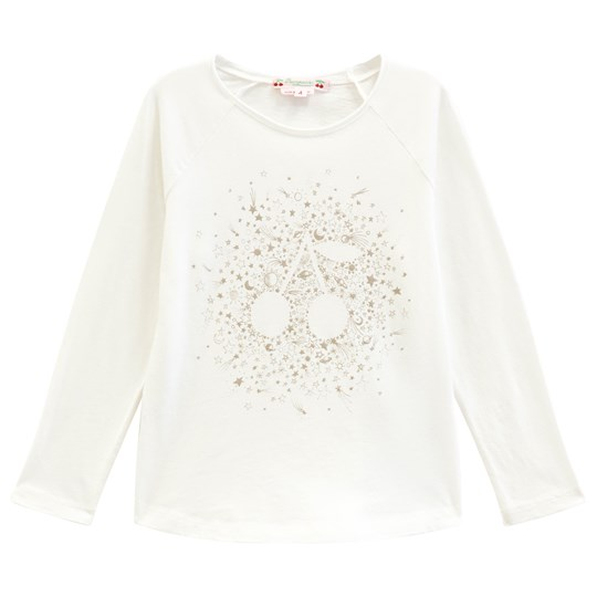 Bonpoint Cream and Gold Cherry Print Tee 102A