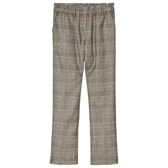Bonpoint Grey Prince Of Wales Check Wool Pants 460