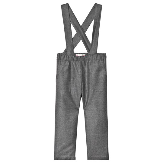 Bonpoint Grey Wool Flannel Pants 095A