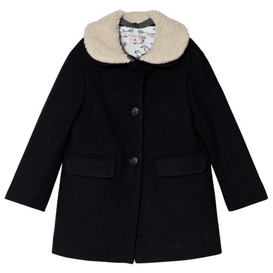 Bonpoint Navy Wool Coat 070