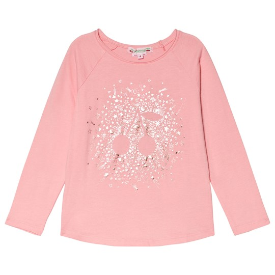 Bonpoint Bright Pink Foil Cherry Print Tee 122A
