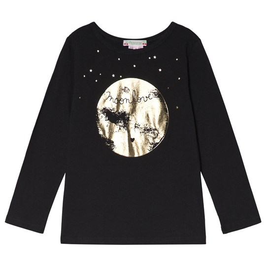 Bonpoint Black and Gold Moon Print Tee 199A