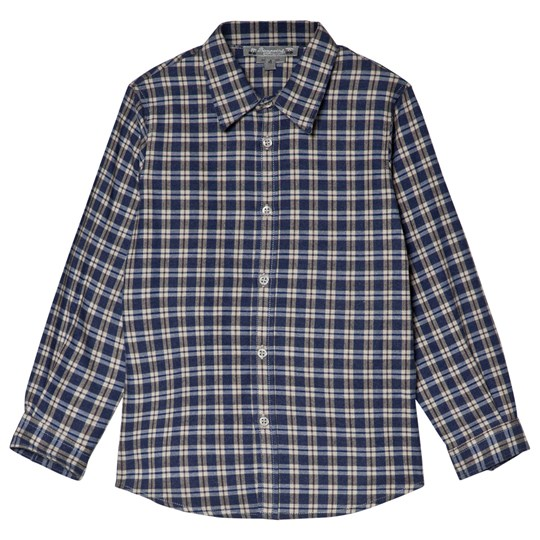 Bonpoint Blue and Grey Check Shirt 377
