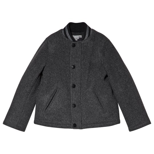 Bonpoint Grey Wool Bomber Jacket 95