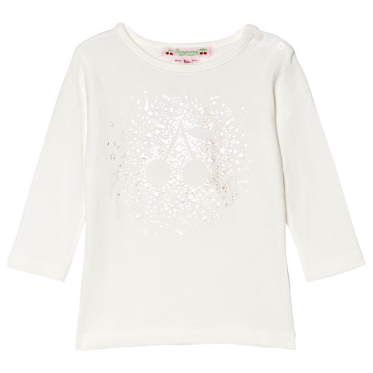 Bonpoint Cream and Gold Cherry Baby Tee 102A