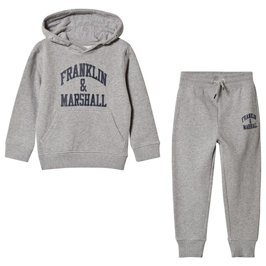 Franklin & Marshall Grey Marl Hoodie and Sweatpants Set G59