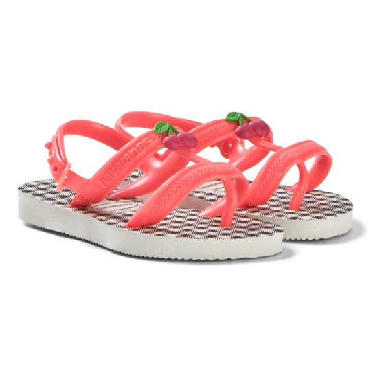 Havaianas Pink and Gingham Print Branded Sandals 9489